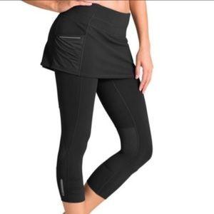 Athleta Skirted black leggings EUC xs